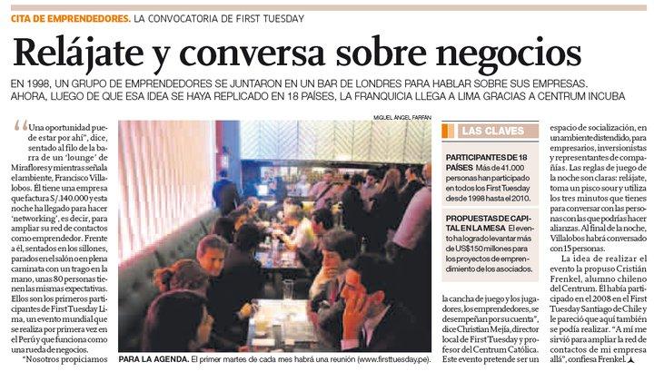 diario-el-comercio-first-tuesday-lima-2010